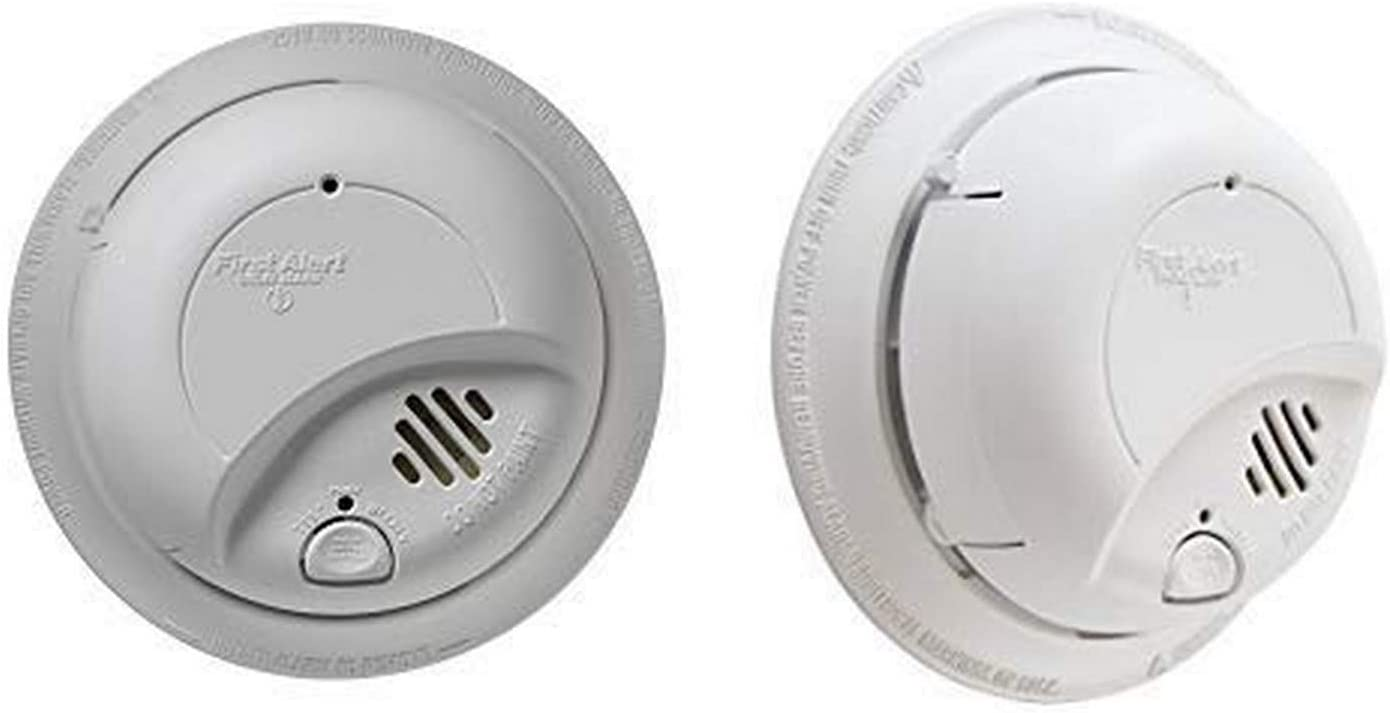 First Alert Smoke Detector Alarm | Hardwired with Backup Battery, 6-Pack, BRK9120b AND First Alert Smoke Detector Alarm | Hardwired with Backup Battery, BRK9120b6CP