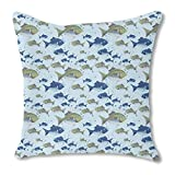 The North Sea Fish 24X24 Burlap Pillow 2-Sided