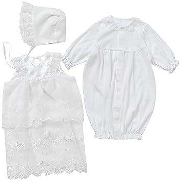 752f703c41411 西松屋 フード&オーガンジーエプロン付きセレモニードレス  新生児50-60cm