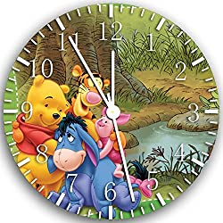 Borderless Winnie The Pooh Frameless Wall Clock X02 Nice for Decor Or Gifts