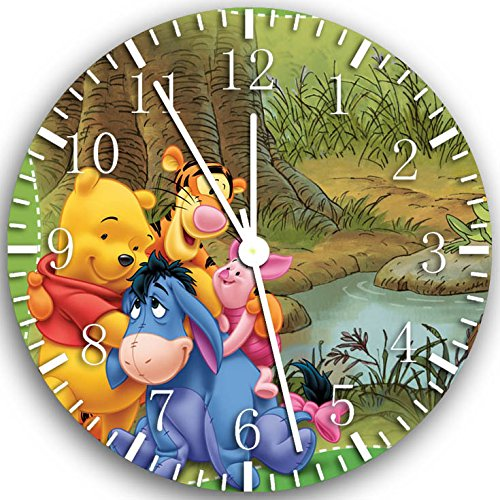 (Borderless Winnie The Pooh Frameless Wall Clock X02 Nice for Decor Or Gifts)