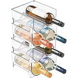 mDesign Estante para Botellas de Vino - Ahorre Espacio con Este botellero apilable y Tenga Siempre ordenadas Sus Botellas de