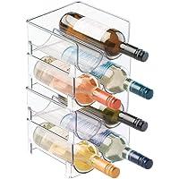 mDesign - Flessenrek - flessenhouder - ideaal als bergruimte voor drinken in de koelkast - stapelbaar/voor 2 flessen…