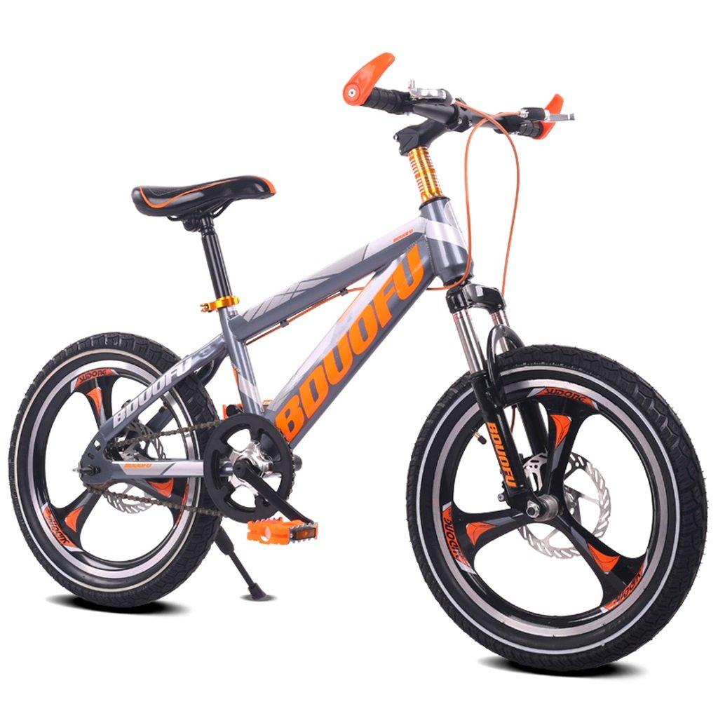 子供用自転車16/18/20インチマウンテンバイク5/8/10/14歳男性と女性の子供用自転車高炭素鋼フレーム、オレンジ/グリーン/レッド/ブルー ( Color : 16 inch orange ) B07D1JK9MT