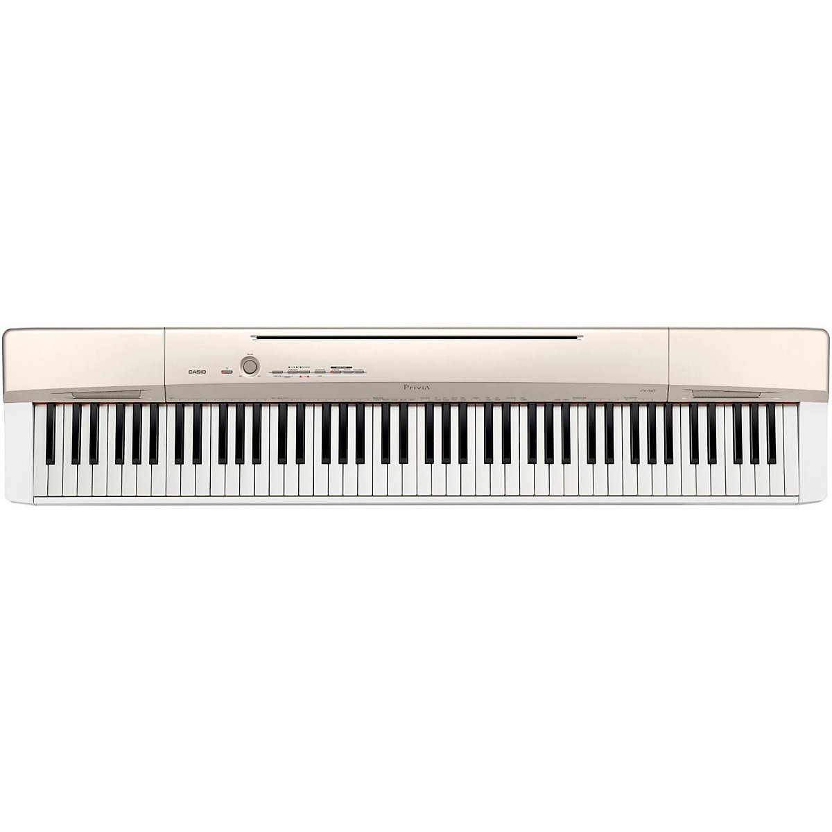 Casio Privia PX160GD 88-Key Full Size Digital Piano Bundle with CS-67 stand, SP33 Pedals, CB7 Bench, Headphones, and Instruction Book
