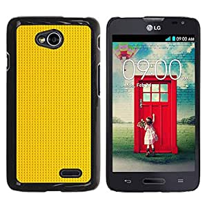 Be Good Phone Accessory // Dura Cáscara cubierta Protectora Caso Carcasa Funda de Protección para LG Optimus L70 / LS620 / D325 / MS323 // Gold Pattern Black Dots