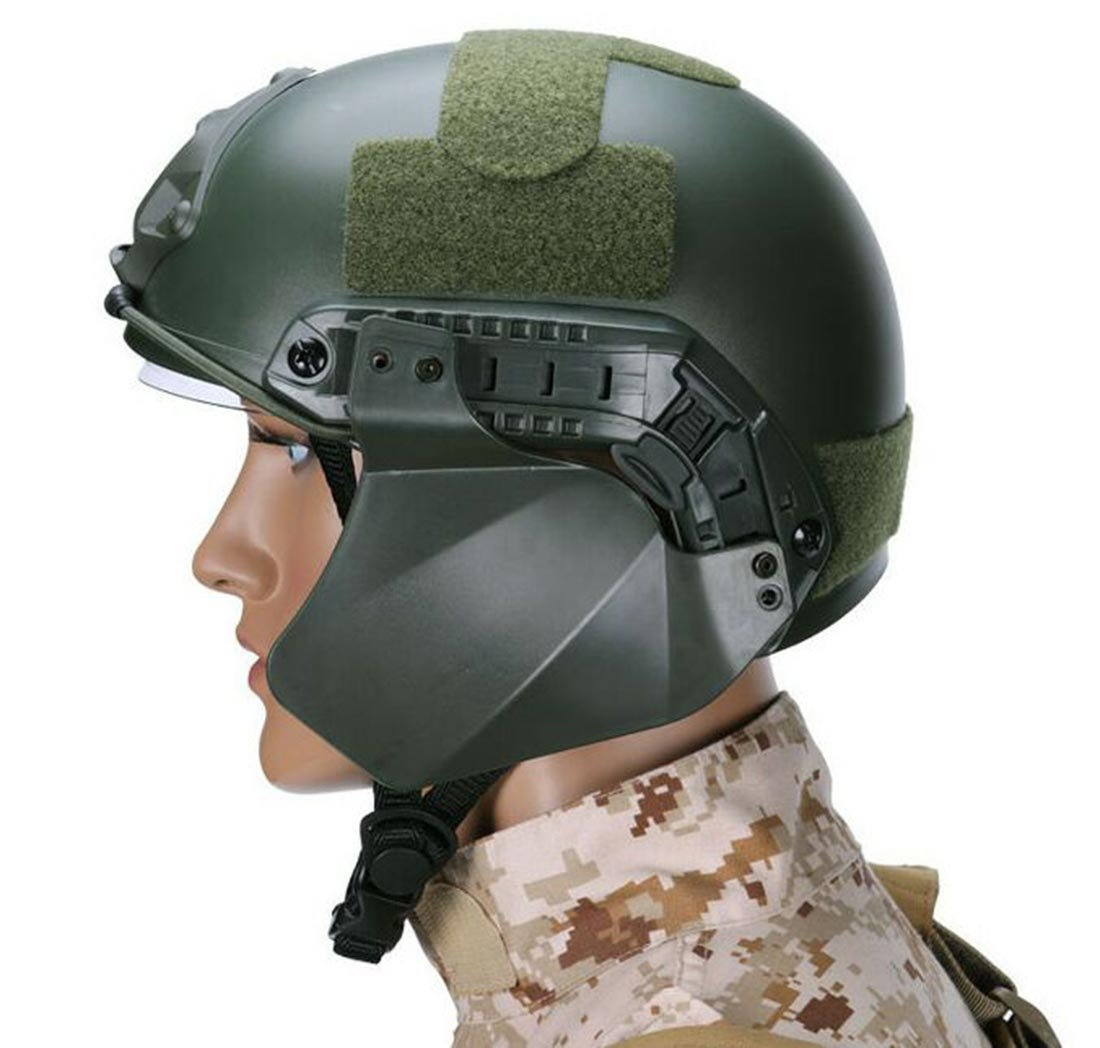 LIVIQILY Tactical Airsoft Military Paintball Up-Armor Side Cover Ear Protection for Airsoft/BB Gun/CS Game and Party (Green) by LIVIQILY