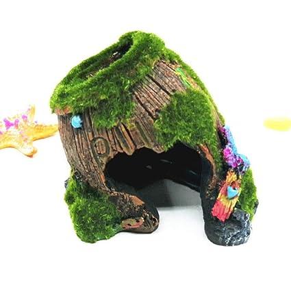 YWJHY Accesorios del Acuario Pecera Decoración Resina Artesanía Barriles Antiguos Arrastrando Mascotas Regalos,Seccion c
