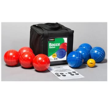 st pierre sports sport bocce set redblue 100mm - Bocce Set