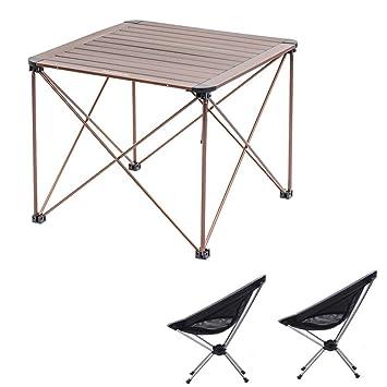 Alf Mesa y Silla de Camping Mesa Plegable portátil con 2 ...