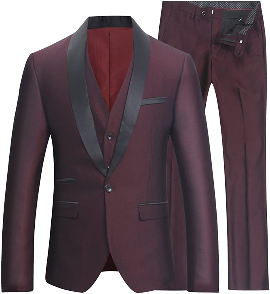 Amazon.com: Minister – hombre 3 piezas traje de una hilera ...