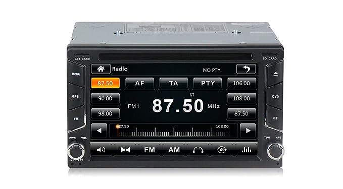 Radio 2 Din con navegador GPS, DVD, USB, SD y Bluetooth para coche: Amazon.es: Electrónica