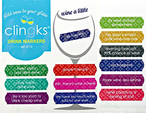 Clingks 12 Drink Markers Alternative product image