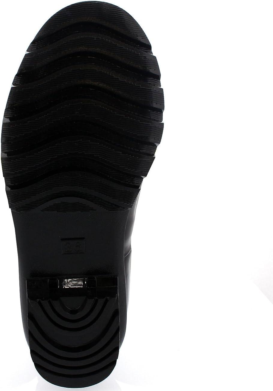 Womens Adjustable Back Tall Gloss Winter Snow Rain Wellies Wellington Boots