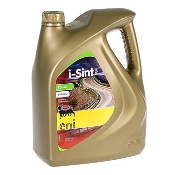 Aceite lubricante coche Eni - Agip i-Sint MS 5w40 5Ltrs ...