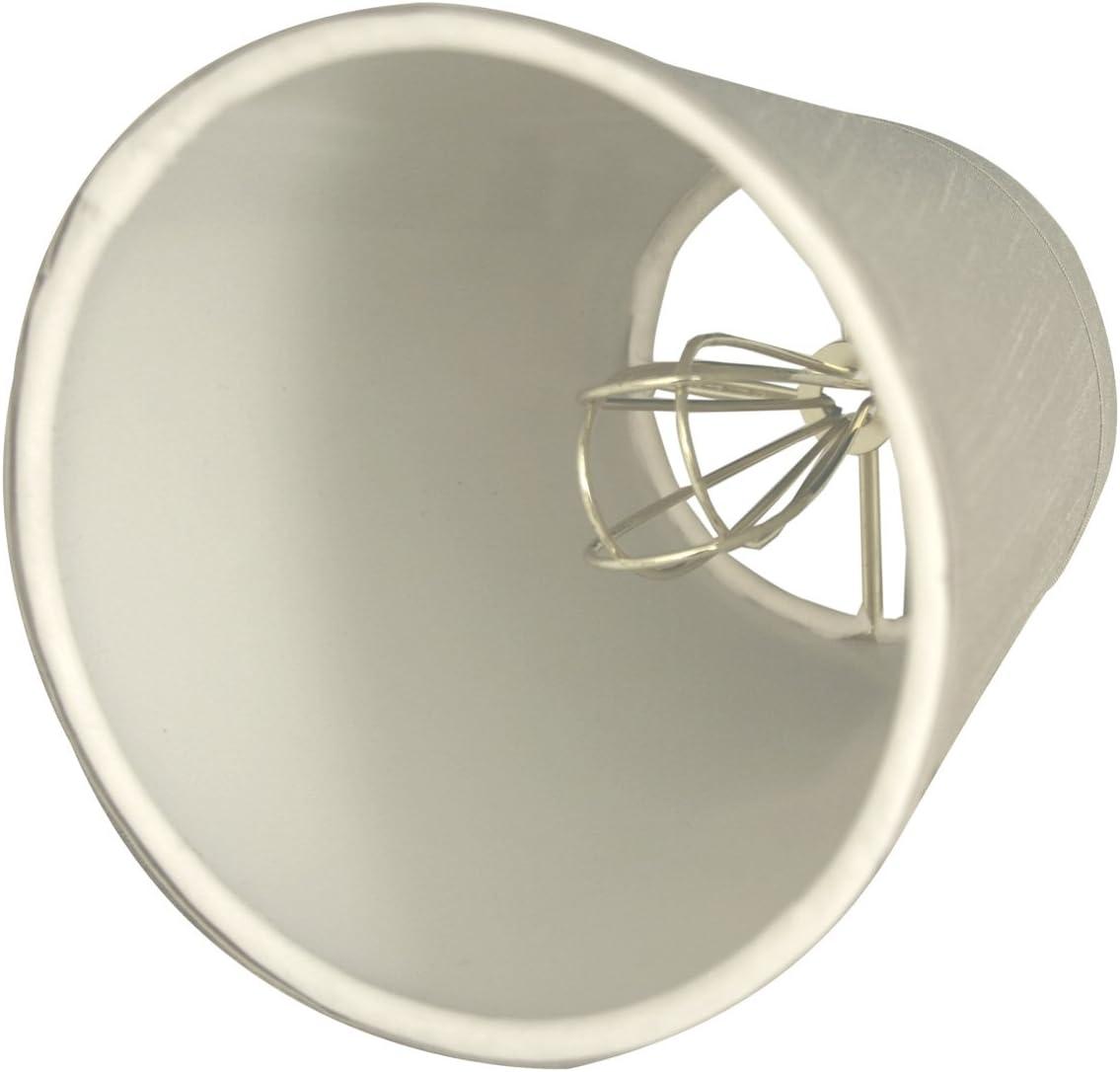 Royal Designs CS-1004-6GR-6 Clip On Empire Chandelier Lamp Shade, 4 x 6 x 5.5 , Gray, Set of 6