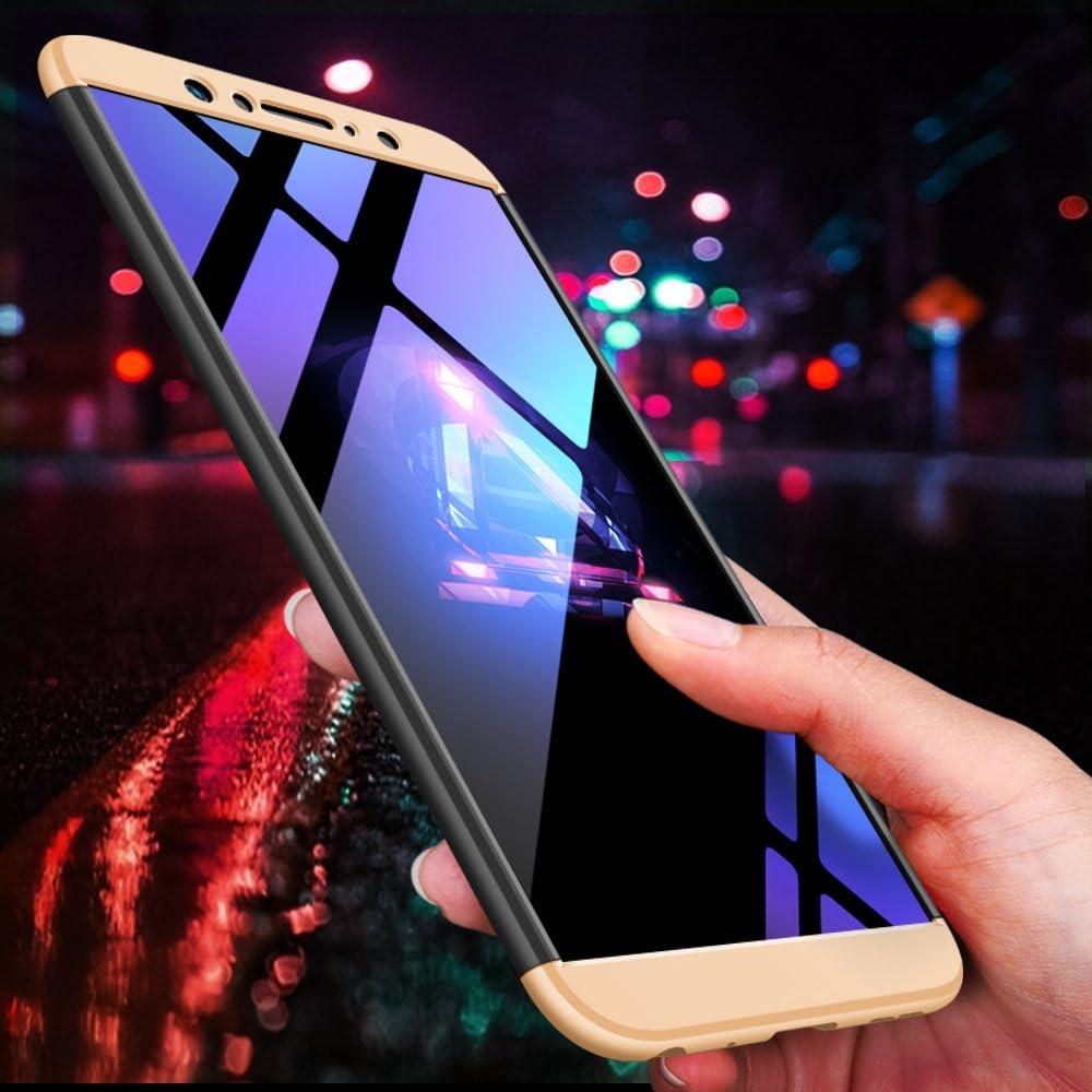 DECHYI Compatible pour Coque ASUS Zenfone Max Pro M1,Cover Verre tremp/é Matte Ultra Slim Cover PC Hard Case Bleu