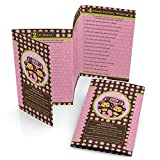 Big Dot of Happiness Twin Monkey Girls - Baby Shower Games Pack - 5 Games in 1 - Fabulous 5 - Set of 12