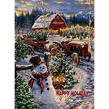 Amazon.com : Dyrenson Christmas Garden Flag Snowman, Home ...