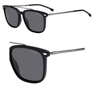 Gafas de Sol Hugo Boss BOSS 0930/S BLACK/GREY hombre: Amazon ...