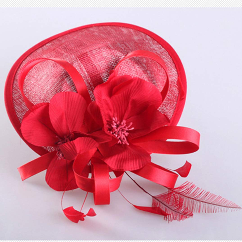 KRASTAL Women Fascinators Party Cocktail Hats for Women Derby Flowers Ladies Pillbox Hat Linen Fedora