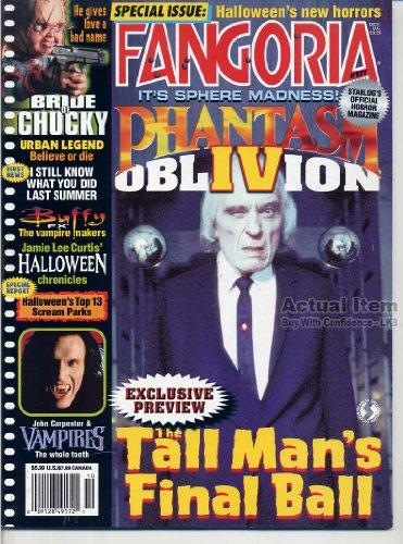 Fangoria Magazine 177 PHANTASM Bride of Chucky BUFFY FX Haunted URBAN LEGEND Halloween WES CRAVEN October 1998 C -