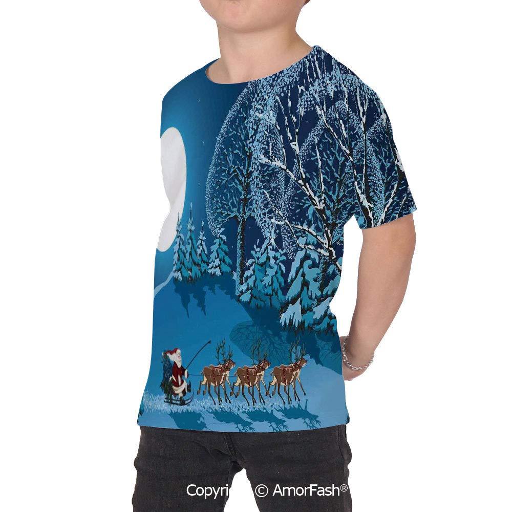 Christmas Decorations Boys and Girls All Over Print T-Shirt,Crew Neck T-Shirt,Sa