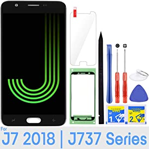 J7 Screen Replacement LCD Display Touch Digitizer Assembly for Samsung Galaxy J7 2018 SM-J737 J737A / J7 Refine 2018 J737P / J7 Crown S767VL /J7 Aero/ J7 V 2018 J737V J7 Star 2018 J737T (Black)