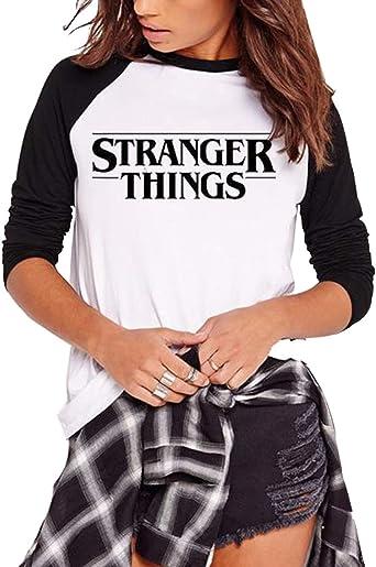 KIACIYA Camiseta Stranger Things Niñas, Camiseta Stranger Things Mujer, Impresión Friends Dont Lie Camiseta Stranger Things Temporada 3 Camisa De Otoño Regalo Camisetas Y Tops: Amazon.es: Ropa y accesorios