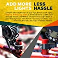 """LAMPHUS Cruizer LED Off-Road Light Vertical Bar Clamp Mounting Kit 1""""/ 1.5""""/ 1.75""""/ 2"""" [1 Clamp] [Includes Allen Hex Key] [User-friendly] - For Light Bar Bull Bar Tube Clamp Roof Roll Cage Holder"""