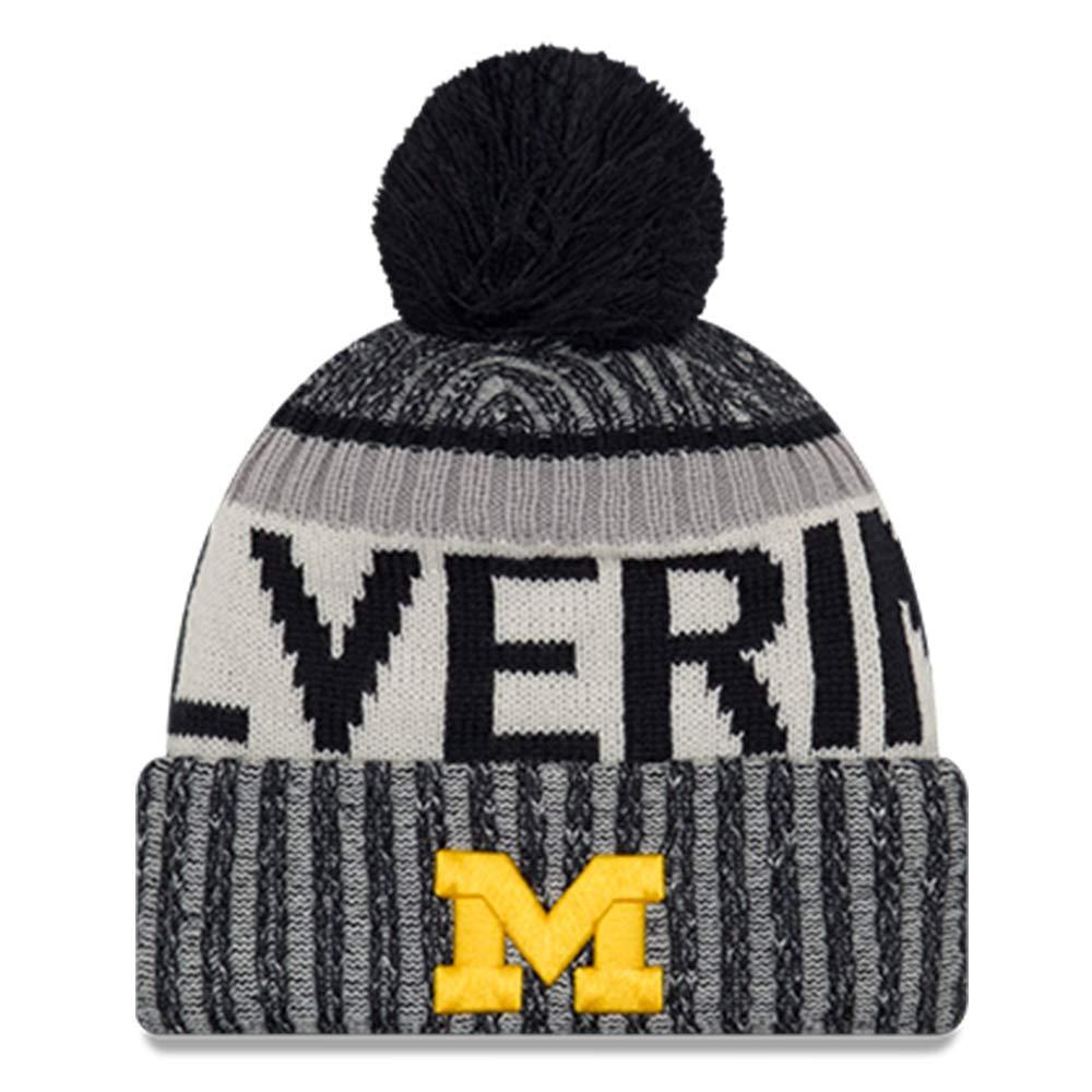 New Era Michigan Wolverines Youth NE17 Sport Knit Pom Hat