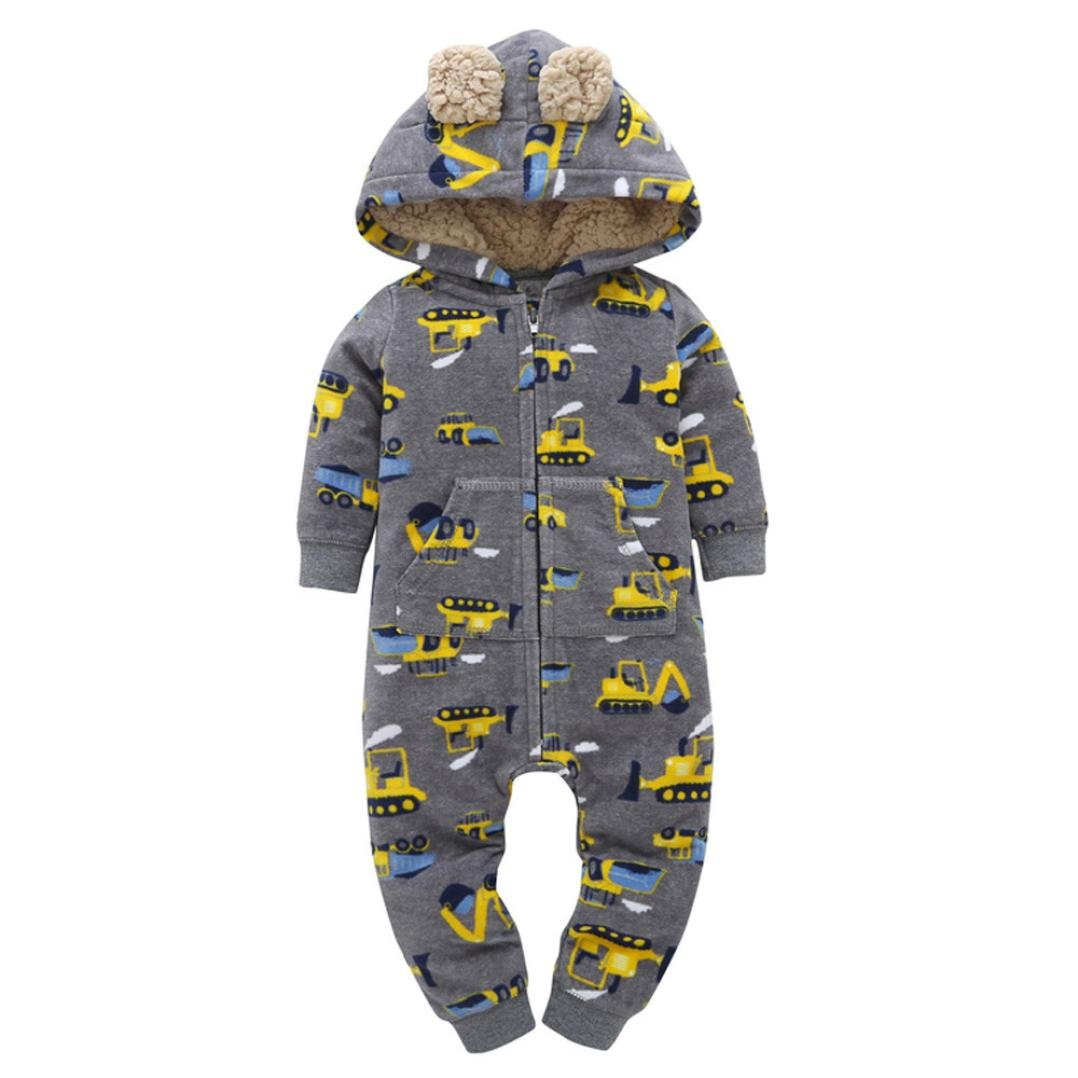 URSING S/äugling Baby Winter Mantel Jungen M/ädchen Kapuzenpullover Drucken Dicker Kapuzenjacke Overall Outfit Rei/ßverschluss S/ü/ßes Ohr Kinderkleidung 6-24 Monat