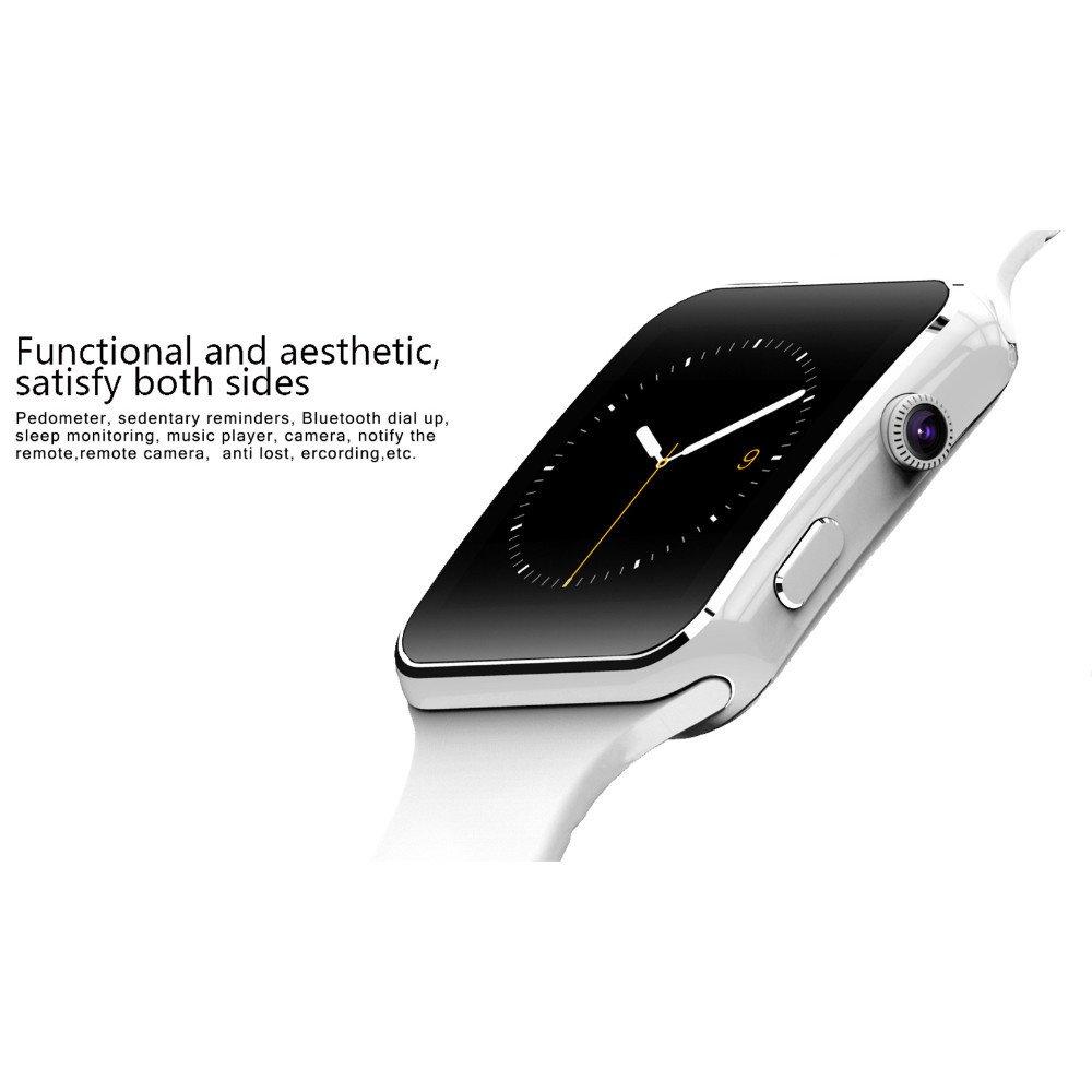 Amazon.com: X6 Bluetooth Smart Watch Sleep Tracker Adult ...