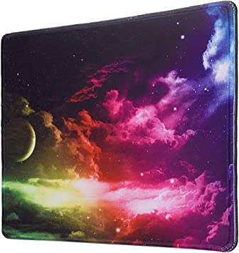 Non Slip Round Galaxy Mouse Pad Mice Mat For Laptop Notebook Computer PC Gaming