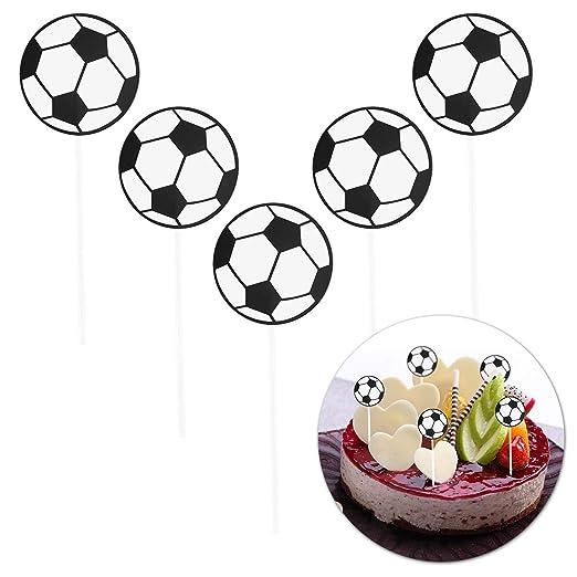 Toyvian 5 Unids Cake Toppers Fútbol Fútbol En Forma de ...