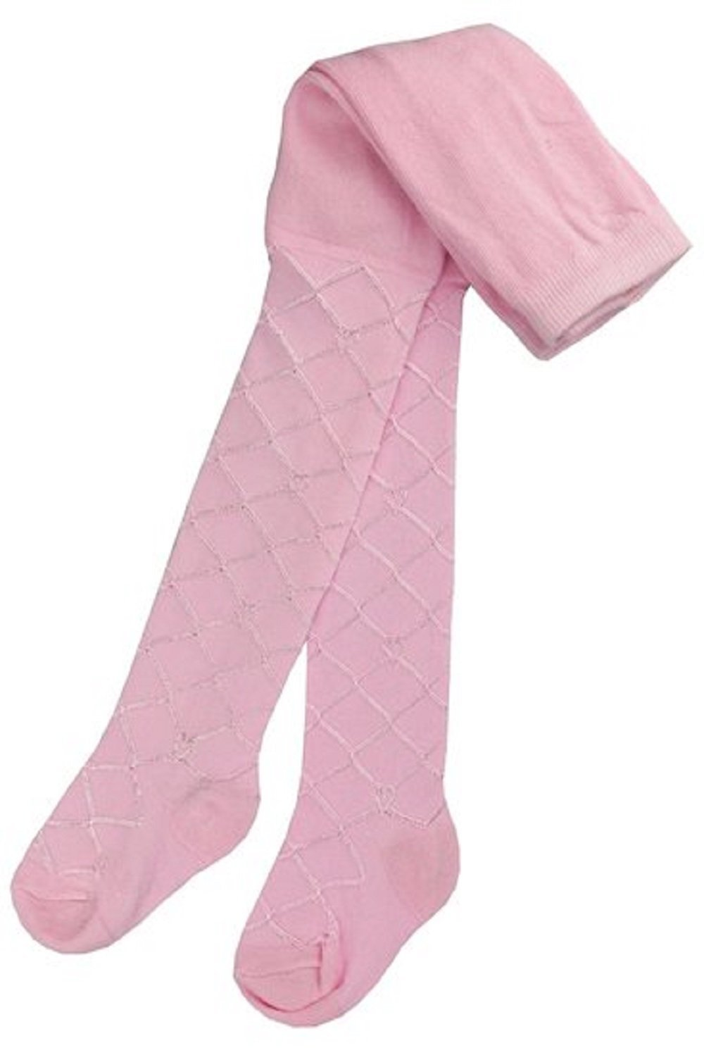 Baby Girls Tights Diamond Lattice Christening Lace Silky 0-24 Months in Pink, White, Cream