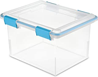 product image for Sterilite 19334304 Clear 32 Quart Gasket Box with Clear Base and Lid (8 Pack)