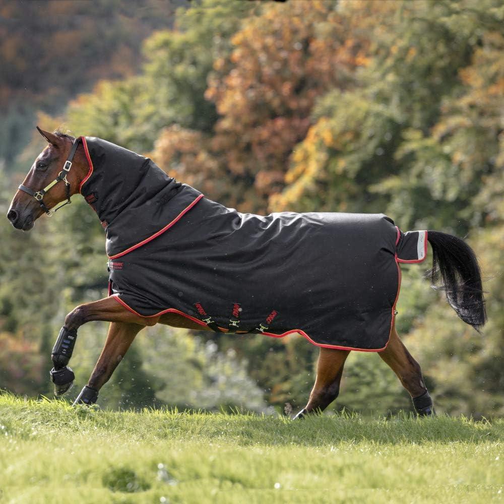 Horseware Amigo Bravo 12 Plus Heavy Turnout Rug 6ft3 Black//Red /& Gold