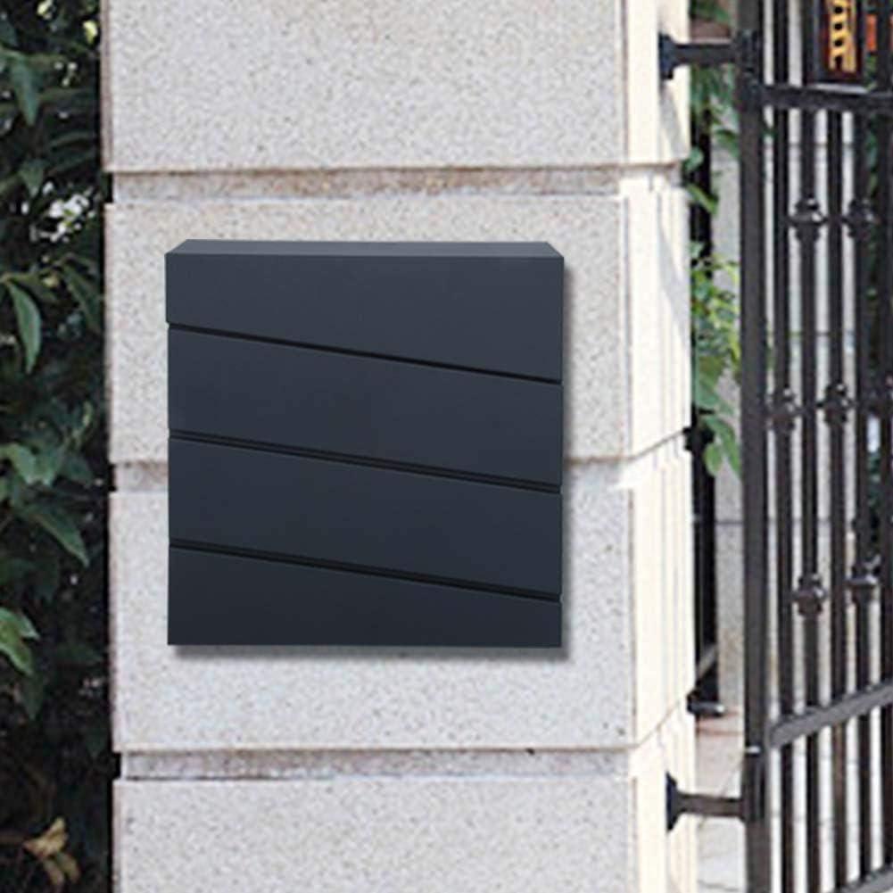 37cm 11 cassetta delle lettere,Cassetta Postale a Parete Muro Cassetta Moderna per Esterno,Cassetta Postale Design con Serratura e 2 Chiavi,in ferro,36