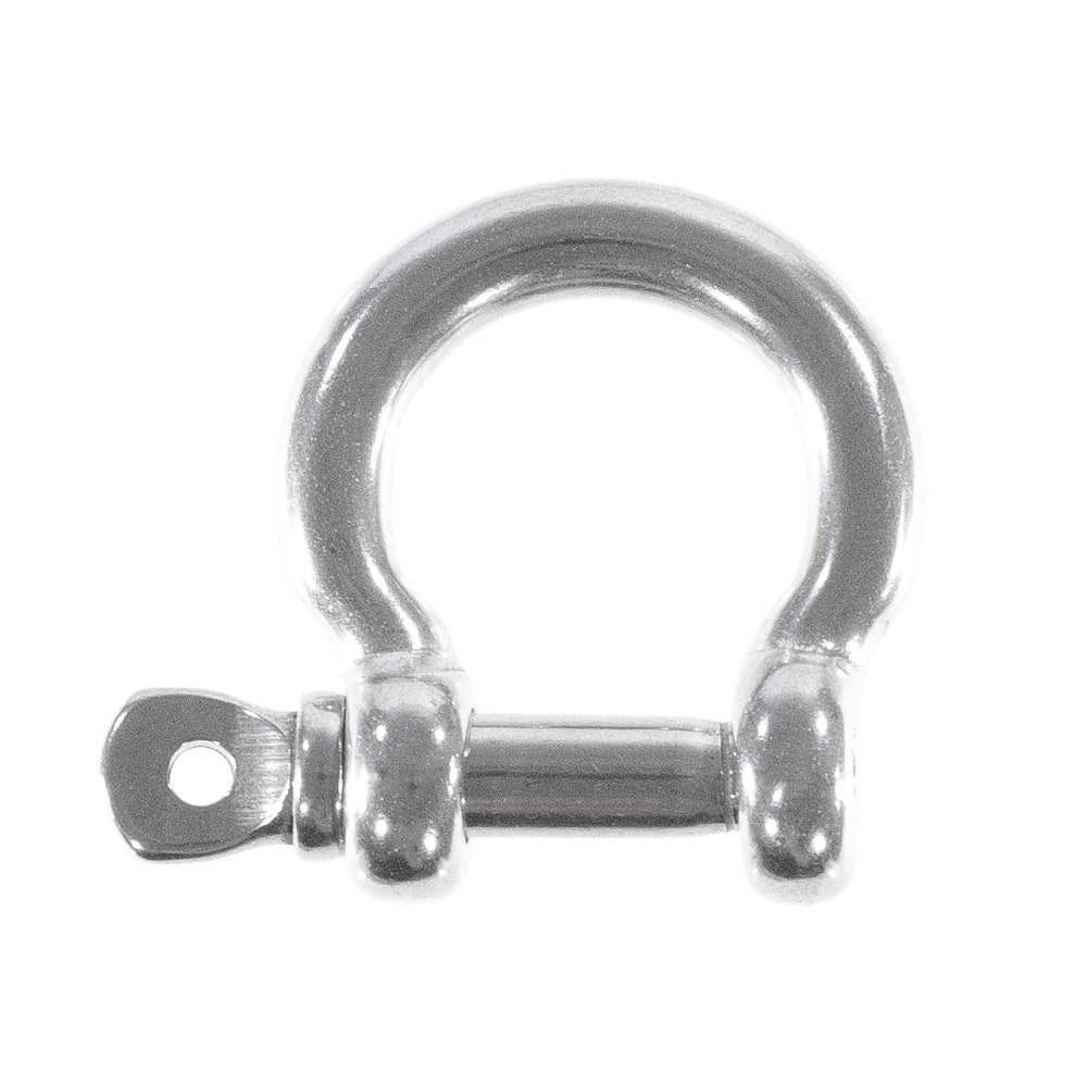 West Coast Paracord 5 Pack Bow Shackles, Stainless Steel Silver, 6MM (1/4 inch) with Pin Clevis Ring