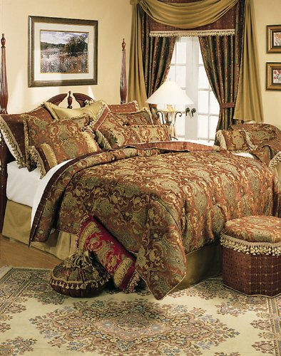 Sherry Kline China Art Brown 6-piece Queen Comforter Set