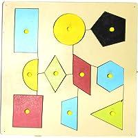 MACMILLAN AQUAFRESH Wooden Puzzle Tray for Kids Geometric Shape (Pack of One)