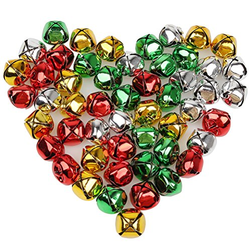 - Pengxiaomei 50 PCS Jingle Bells, Colorful Christmas Bells, 1 Inch Craft Bells Bulk Loose Beads Charms for Party & Festival Decorations and Jewelry Making