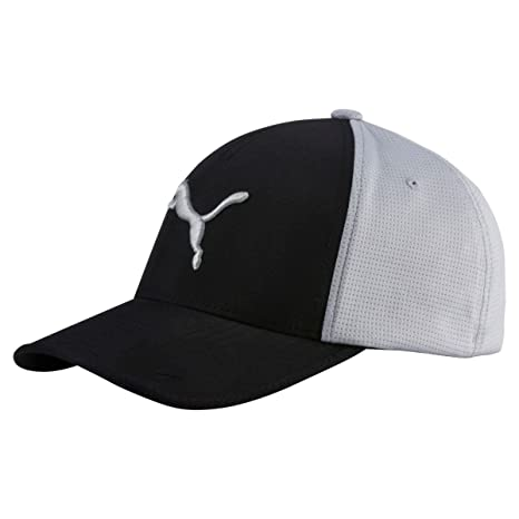 Puma Golf 2017 Men's Front 9 Flexfit Hat, Black-Quarry, Small/Medium