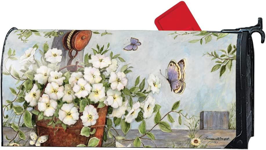 Mailwraps Studio M Petunias on Pulley Decorative Magnetic Mailbox Cover