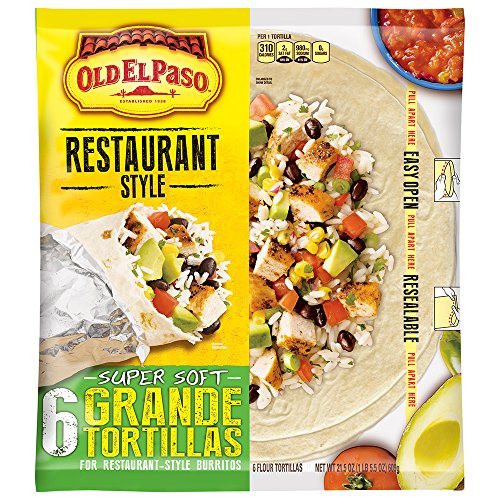 Soft Taco (Old El Paso Old El Paso Restaurante Grande Flour Tortillas 6 ct Bag, 21.5 oz)