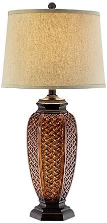 Faux wicker jar table lamp amazon faux wicker jar table lamp aloadofball Choice Image