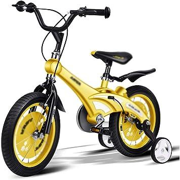 Bicicletas Velocidad Variable Montaña Niños Estabilizadora Desmontable Ajustable Amarilla 3-6 Años: Amazon.es: Hogar