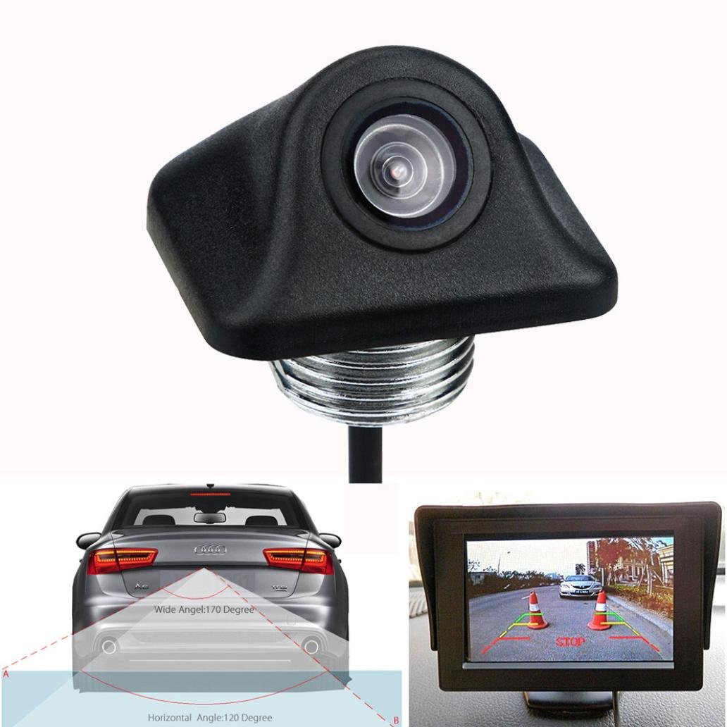 Dacawin 170º CMOS Car Rear View Reverse Backup Parking Camera HD Night Vision Waterproof (Black)
