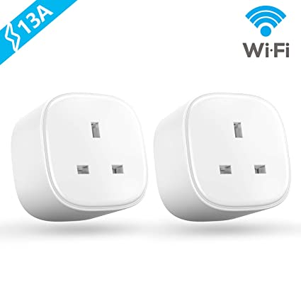 Smart Plug WiFi, Meross Smart Socket Compatible with Amazon Alexa Google  Home 13A with Energy Monitor (2 Pack)